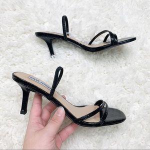 Steve Madden | Black Strappy Heeled Sandals